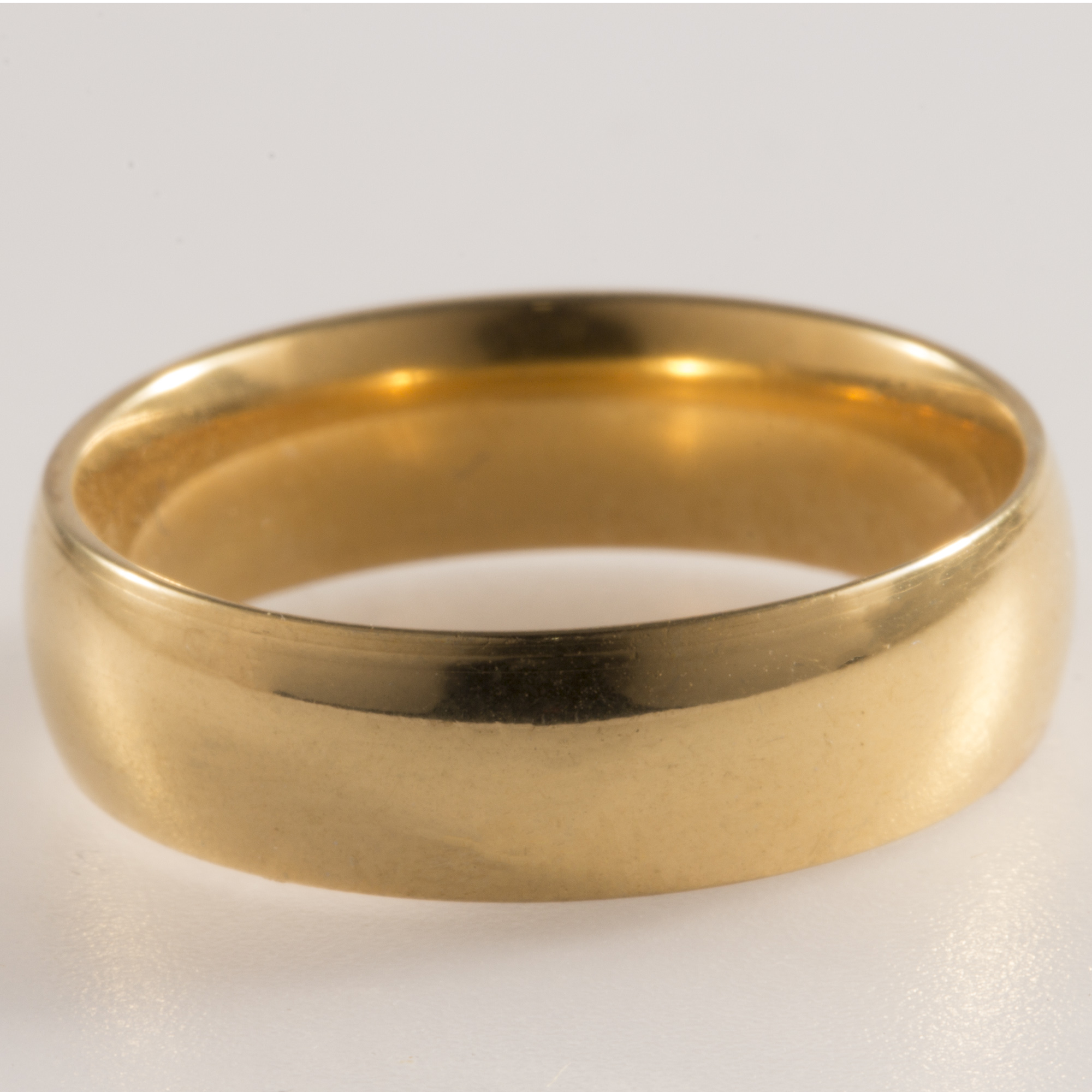 New Yellow Gold Filled 6mm Mens Wedding Ring Womens Pinky